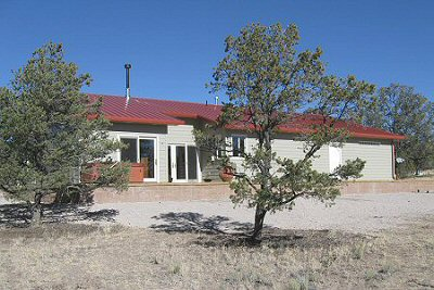 Photos of a structural insulated panel home in Catron County, New Mexico